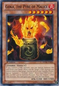 YuGiOh Structure Deck: Onslaught of the Fire Kings Single Card Common SDOK-EN006 Goka, the Pyre of Malice