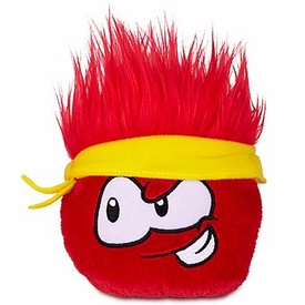 Disney Club Penguin 4 Inch Series 12 Plush Puffle Red with Bandana [Includes Coin with Code!]