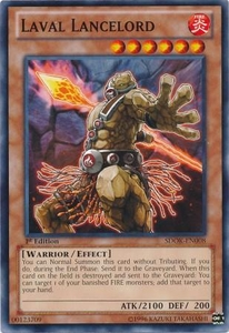 YuGiOh Structure Deck: Onslaught of the Fire Kings Single Card Common SDOK-EN008 Laval Lancelord