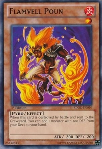 YuGiOh Structure Deck: Onslaught of the Fire Kings Single Card Common SDOK-EN010 Flamvell Poun