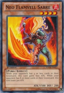 YuGiOh Structure Deck: Onslaught of the Fire Kings Single Card Common SDOK-EN011 Neo Flamvell Sabre
