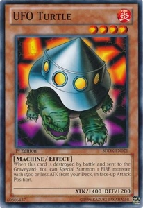 YuGiOh Structure Deck: Onslaught of the Fire Kings Single Card Common SDOK-EN021 UFO Turtle