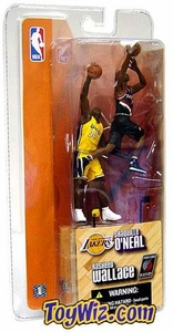 McFarlane Toys NBA 3 Inch Sports Picks Series 1 Mini Figures 2-Pack Shaquille O'Neal (Los Angeles Lakers) & Rasheed Wallace (Portland Trailblazers)
