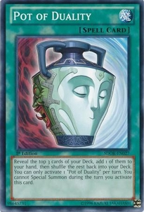 YuGiOh Structure Deck: Onslaught of the Fire Kings Single Card Common SDOK-EN027 Pot of Duality