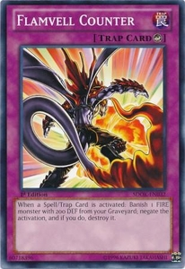 YuGiOh Structure Deck: Onslaught of the Fire Kings Single Card Common SDOK-EN032 Flamvell Counter