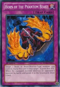YuGiOh Structure Deck: Onslaught of the Fire Kings Single Card Common SDOK-EN034 Horn of the Phantom Beast