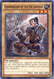 YuGiOh Zexal Samurai Warlords Structure Deck Single Card Common SDWA-EN001 Chamberlain of the Six Samurai