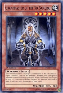 YuGiOh Zexal Samurai Warlords Structure Deck Single Card Common SDWA-EN002 Grandmaster of the Six Samurai