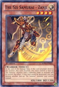 YuGiOh Zexal Samurai Warlords Structure Deck Single Card Common SDWA-EN004 The Six Samurai - Zanji