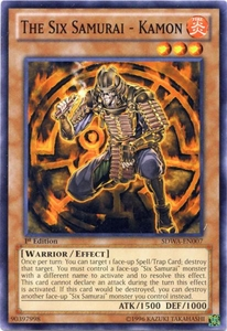 YuGiOh Zexal Samurai Warlords Structure Deck Single Card Common SDWA-EN007 The Six Samurai - Kamon