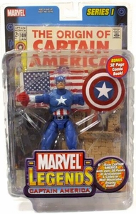 Marvel Legends Series 1 Action Figure Captain America [Random Comic]