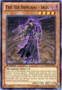 YuGiOh Zexal Samurai Warlords Structure Deck Single Card Common SDWA-EN008 The Six Samurai - Irou