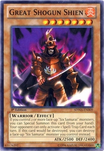 YuGiOh Zexal Samurai Warlords Structure Deck Single Card Common SDWA-EN009 Great Shogun Shien