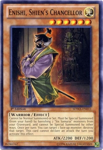 YuGiOh Zexal Samurai Warlords Structure Deck Single Card Common SDWA-EN011 Enishi, Shien's Chancellor