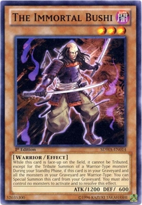 YuGiOh Zexal Samurai Warlords Structure Deck Single Card Common SDWA-EN014 The Immortal Bushi