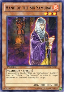 YuGiOh Zexal Samurai Warlords Structure Deck Single Card Common SDWA-EN015 Hand of the Six Samurai