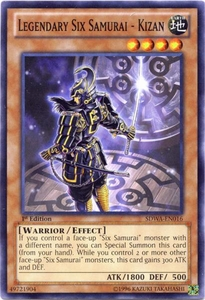 YuGiOh Zexal Samurai Warlords Structure Deck Single Card Common SDWA-EN016 Legendary Six Samurai - Kizan