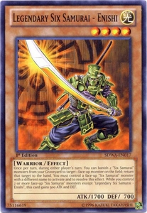 YuGiOh Zexal Samurai Warlords Structure Deck Single Card Common SDWA-EN017 Legendary Six Samurai - Enishi