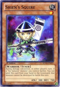 YuGiOh Zexal Samurai Warlords Structure Deck Single Card Common SDWA-EN019 Shien's Squire
