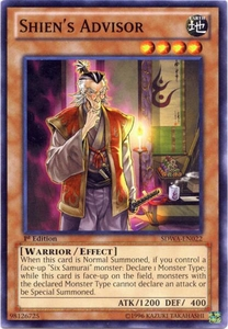 YuGiOh Zexal Samurai Warlords Structure Deck Single Card Common SDWA-EN022 Shien's Advisor