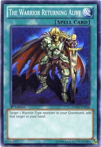 YuGiOh Zexal Samurai Warlords Structure Deck Single Card Common SDWA-EN026 The Warrior Returning Alive