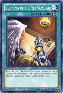 YuGiOh Zexal Samurai Warlords Structure Deck Single Card Common SDWA-EN027 Cunning of the Six Samurai