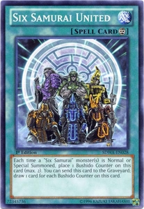 YuGiOh Zexal Samurai Warlords Structure Deck Single Card Common SDWA-EN028 Six Samurai United