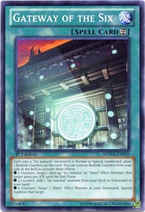 YuGiOh Zexal Samurai Warlords Structure Deck Single Card Common SDWA-EN029 Gateway of the Six