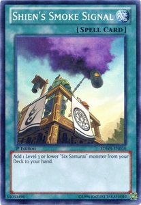 YuGiOh Zexal Samurai Warlords Structure Deck Single Card Super Rare SDWA-EN030 Shien's Smoke Signal