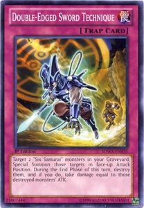 YuGiOh Zexal Samurai Warlords Structure Deck Single Card Common SDWA-EN035 Double-Edged Sword Technique