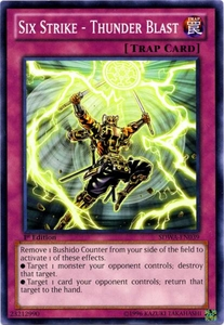 YuGiOh Zexal Samurai Warlords Structure Deck Single Card Common SDWA-EN039 Six Strike - Thunder Blast