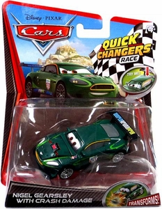 Disney / Pixar CARS 2 Movie 1:55 Quick Changers Race Nigel Gearsley with Crash Damage