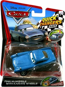 Disney / Pixar CARS 2 Movie 1:55 Quick Changers Race Finn McMissile with Karate Wheels