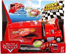 Disney / Pixar CARS 2 Movie 1:55 Quick Changers Race Deluxe Mack Transporter