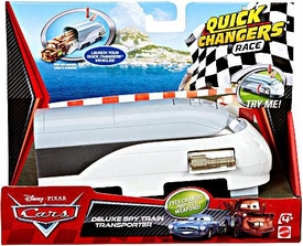 Disney / Pixar CARS 2 Movie 1:55 Quick Changers Race Deluxe Spy Train Transporter