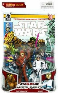 Star Wars 2009 Comic Book Action Figure 2-Pack Chewbacca & Han Solo in Stormtrooper Armor