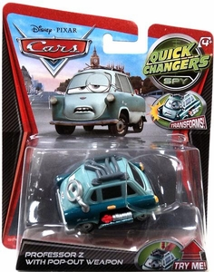 Disney / Pixar CARS Movie 1:55 Quick Changers Spy Professor Z with Pop-Out Weapon