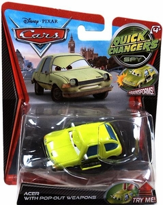 Disney / Pixar CARS Movie 1:55 Quick Changers Spy Acer with Pop-Out Weapons