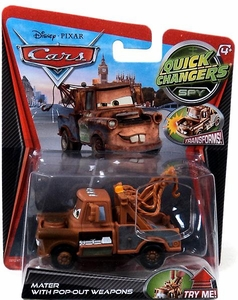 Disney / Pixar CARS Movie 1:55 Quick Changers Spy Mater with Pop-Out Weapons