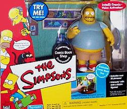 The Simpsons Series 4 Action Figure Playset Comic Book Shop with Comic Shop Guy Damaged Package, Mint Contents!