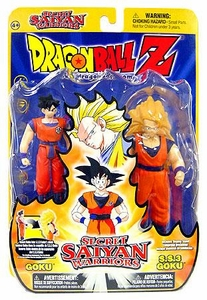 Dragon Ball Z Secret Saiyan Warriors Action Figure 2-Pack Goku & SS3 Goku