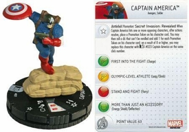Heroclix Marvel 10th Anniversary Single Figure & Card #001 Captain America