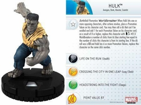 Heroclix Marvel 10th Anniversary Single Figure & Card #002 Hulk
