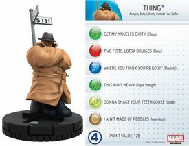 Heroclix Marvel 10th Anniversary Single Figure & Card #003 Thing
