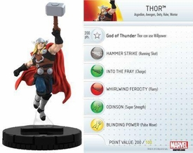 Heroclix Marvel 10th Anniversary Single Figure & Card #005 Thor