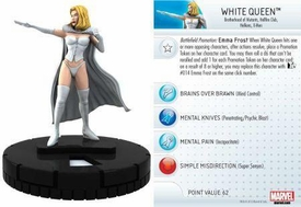 Heroclix Marvel 10th Anniversary Single Figure & Card #008 White Queen