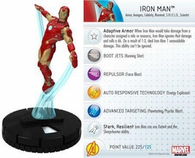 Heroclix Marvel 10th Anniversary Single Figure & Card #009 Iron Man