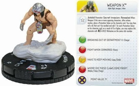 Heroclix Marvel 10th Anniversary Single Figure & Card #010 Weapon X