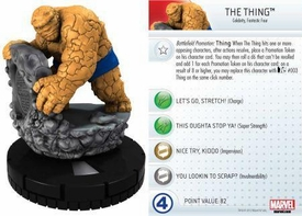 Heroclix Marvel 10th Anniversary Single Figure & Card #011 The Thing