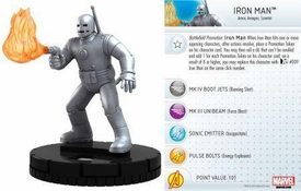 Heroclix Marvel 10th Anniversary Single Figure & Card #012 Iron Man